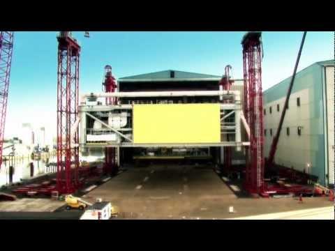 TenneT's DolWin1 offshore converter platform mated in yard Zwijndrecht (NL)