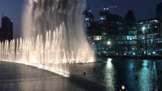 dubai fountain water show @ 18:00