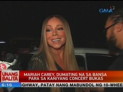 UB: Mariah Carey, dumating na sa bansa para sa kaniyang concert bukas