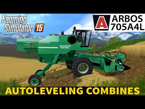 Farming Simulator 15 AUTOLEVELING COMBINES ARBOS 705A4L