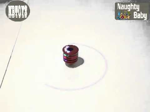 Laser Spinning Top with Music and Light