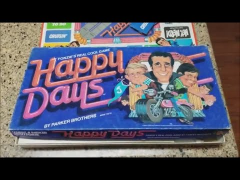 Vintage 1980s Happy Days Board Game Fonzie Real Cool Parker Brothers Cunningham