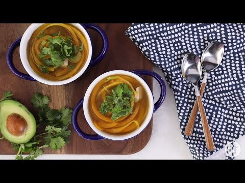Soup Recipes – How to Make Butternut Squash Noodle Soup with Turkey