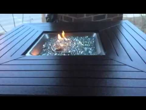 Best Choice Products Gas Powered Fire Pit Table