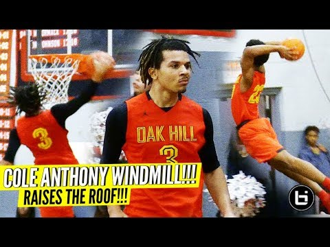 Cole Anthony NASTY WINDMILL & RAISES THE ROOF as Oak Hill Remains UNDEFEATED!!!