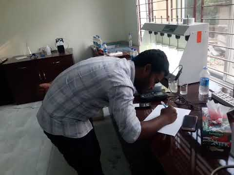 Jar Test At Laboratory For Modunaghat Water Treatment Plant