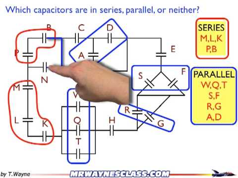 example of series and parallel capacitor calculations pt 3 of 3 rh youtube com