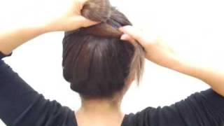 나무비녀를 사용한 쪽머리
