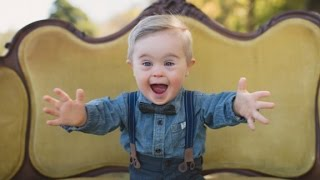 Toddler with Down syndrome models for OshKosh