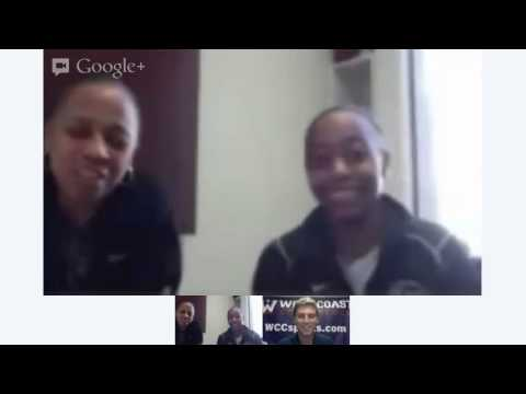 WCC Google+ Hangout with Pepperdine Basketball