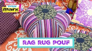 Boho Rag Rug Floor Pouf