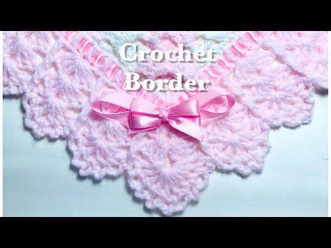 easy-crochet-border-for-any-crochet-or-knit-baby-blanket-#133