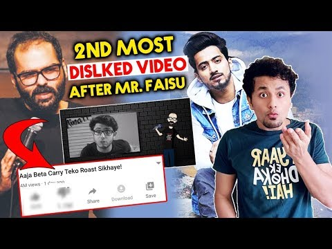 Comedian Kunal Kamra's CARRY MINATI ROAST Video Becomes 2nd Most Disliked Indian Video On Youtube