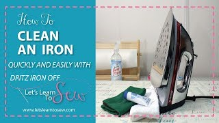 How To Clean An Iron With Dritz Iron Off