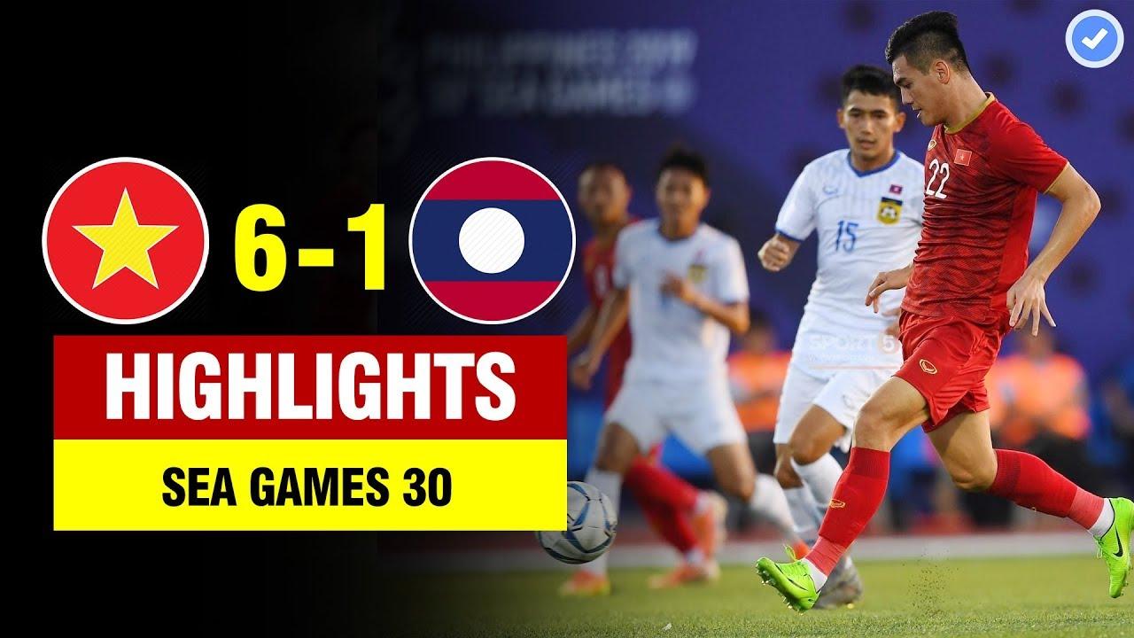 Highlights Việt Nam 6-1 Lào | Tiến Linh hóa CR7 lập hattrick siêu đẳng-U22 VN thắng long trời lở đất