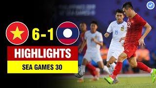 Highlights Việt Nam 6-1 Lào   Tiến Linh hóa CR7 lập hattrick siêu đẳng-U22 VN thắng long trời lở đất