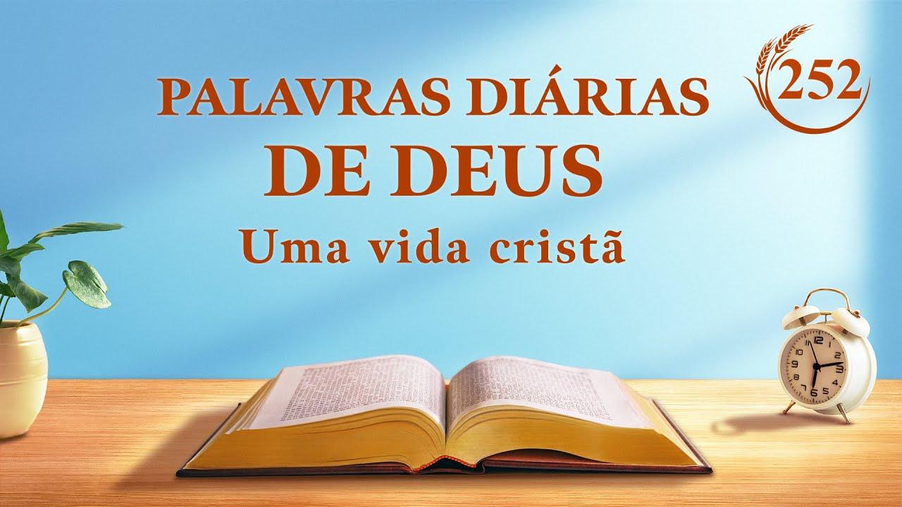 """Palavras diárias de Deus   """"Obra e entrada (9)""""   Trecho 252"""