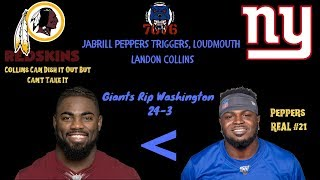 Jabrill Peppers Triggers Landon Collins! Skirmish After Game! Collins GOT PUNKED! Peppers REAL #21
