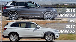 2018 BMW X3 vs 2017 BMW X5 (technical comparison)