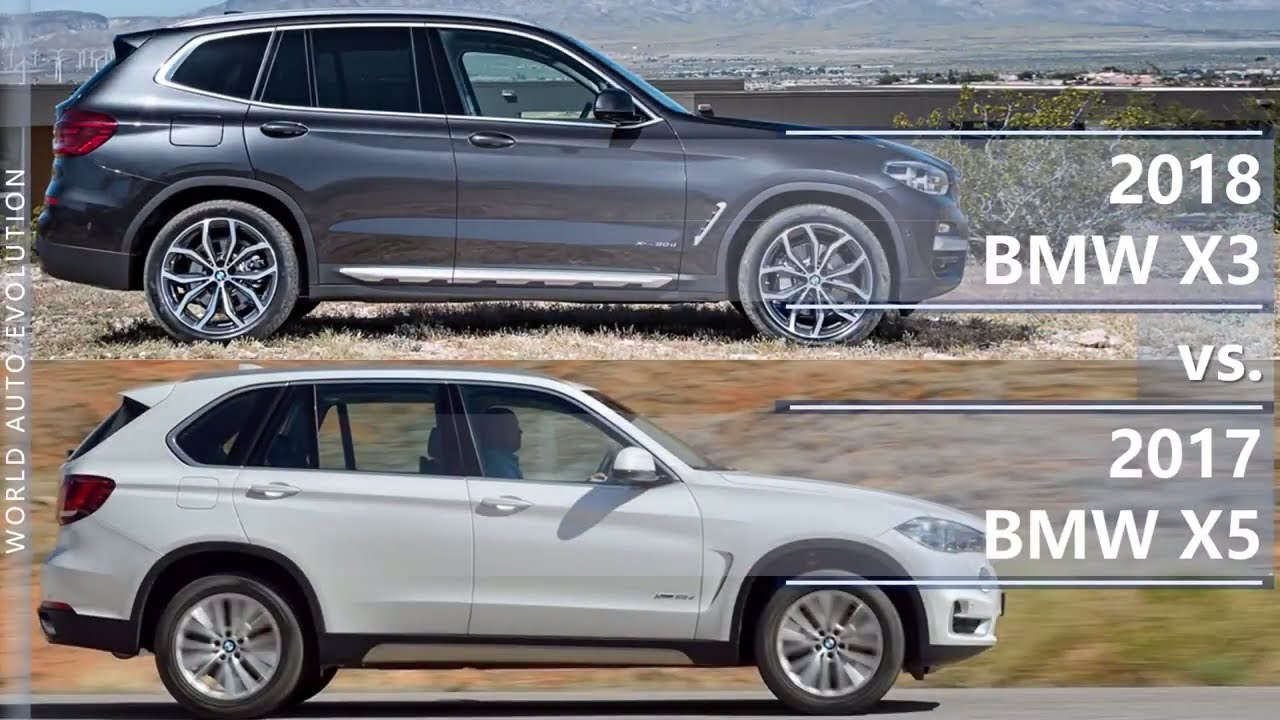 2018 Bmw X3 Vs 2017 Bmw X5 Technical Comparison Youtube