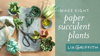 DIY Paper Succulent Plants: Eight Unique Succulents Using Cardstock Paper