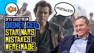 Disney CEO Blames Himself for STAR WARS, X-Men in the MCU, James Gunn and More