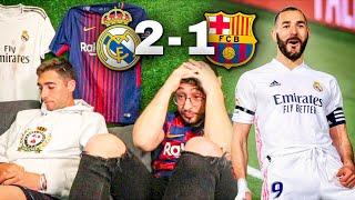 HINCHAS del BARÇA REACCIONAN a REAL MADRID 2-1 BARCELONA... 😭😭 ADIÓS A LA LIGA !!?