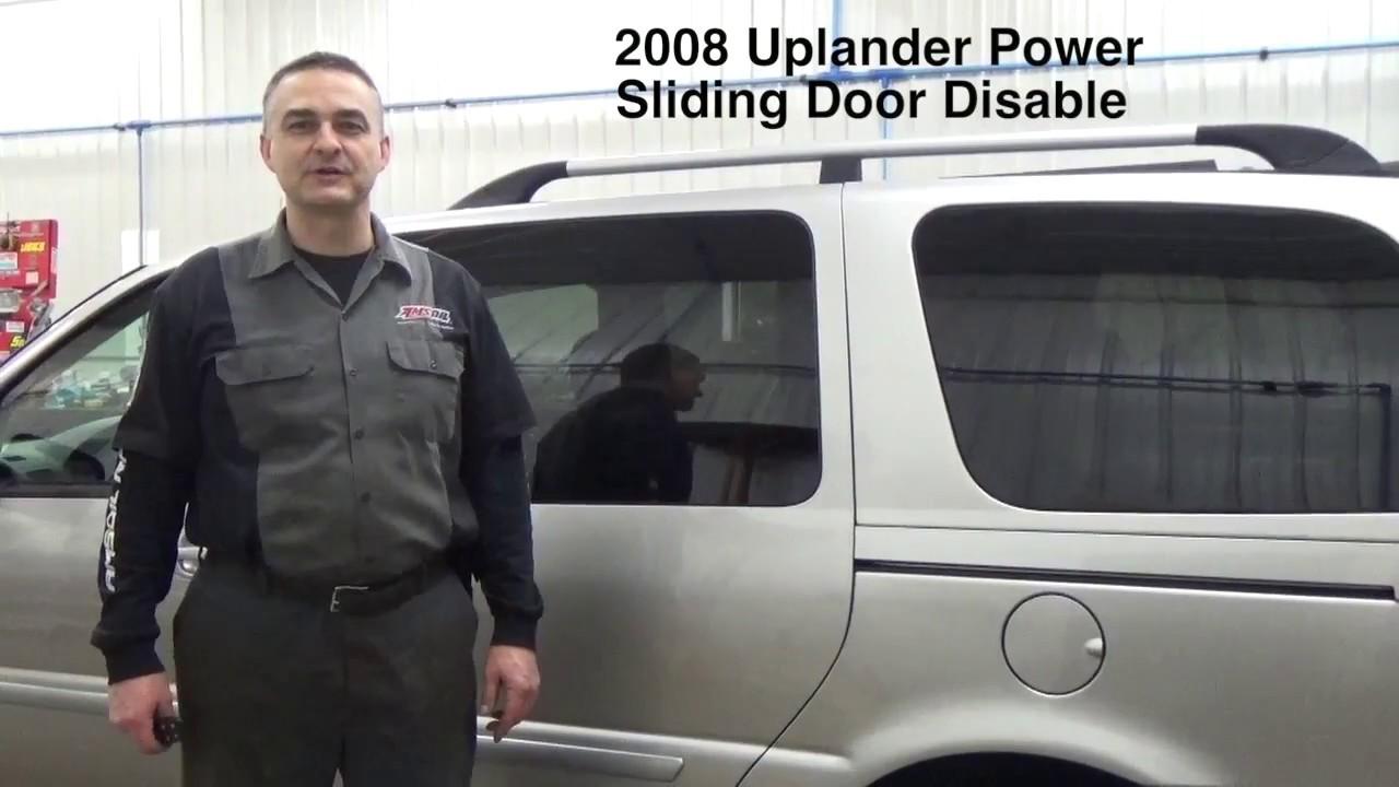 2008 Uplander Power Sliding Door Problems Youtube