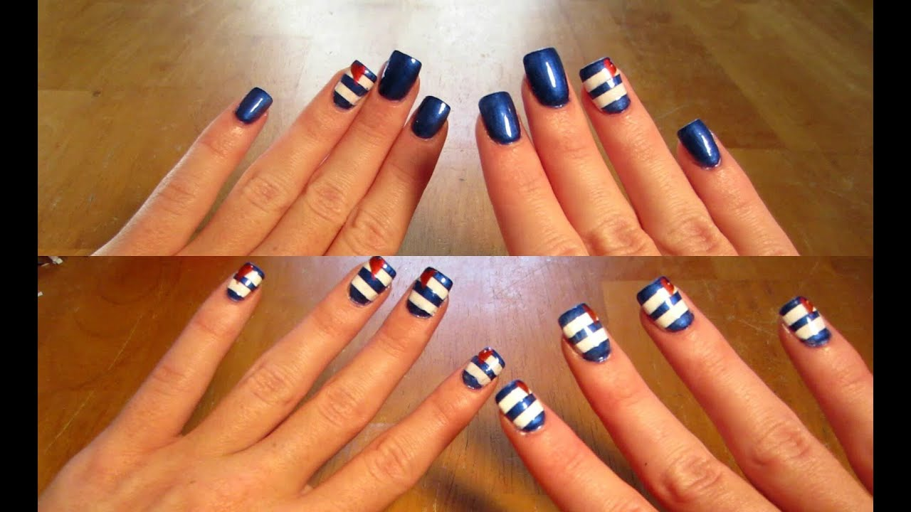 Fun Nautical Inspired Nail Tutorial