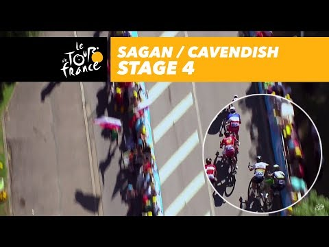 Sprint comparison – Sagan / Cavendish – Stage 4 – Tour de France 2017