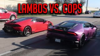 COPS CANT STOP US!! RENT A COPS GET DESTROYED BY CARS LEAVING COFFEE AND CARS HOUSTON-December 2019!
