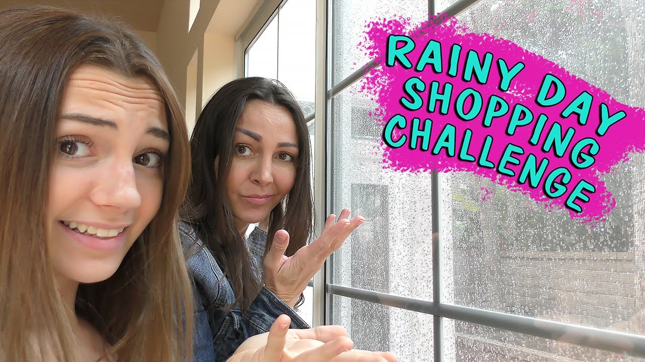 OUR RAINY DAY SHOPPING CHALLENGE | We Are The Davises