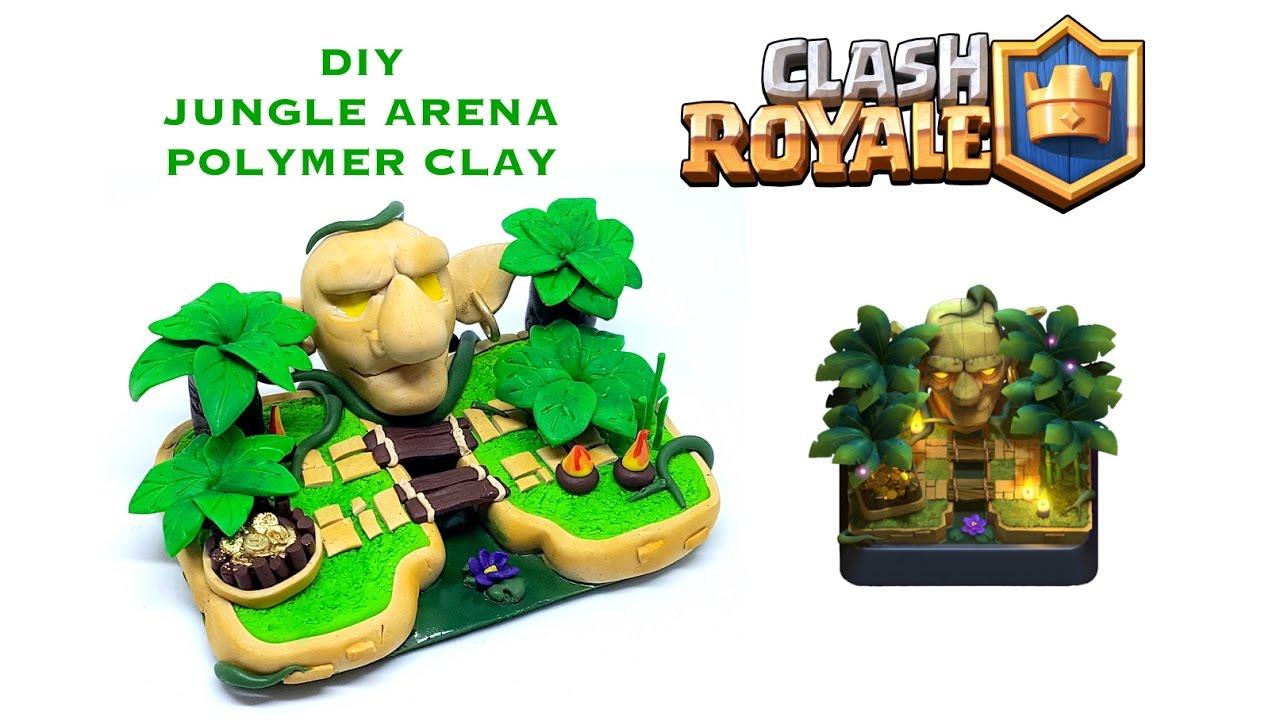 DIY Clash Royale Jungle Arena Polymer Clay Tutorial