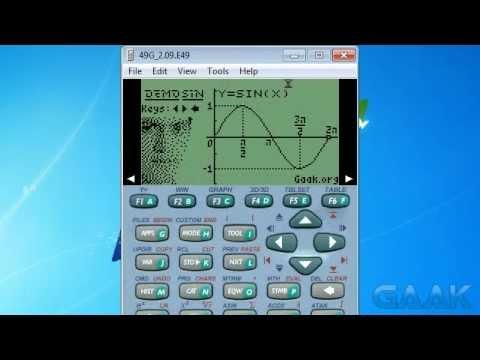 HP calculators: DemoSIN on 49 series - Gaak