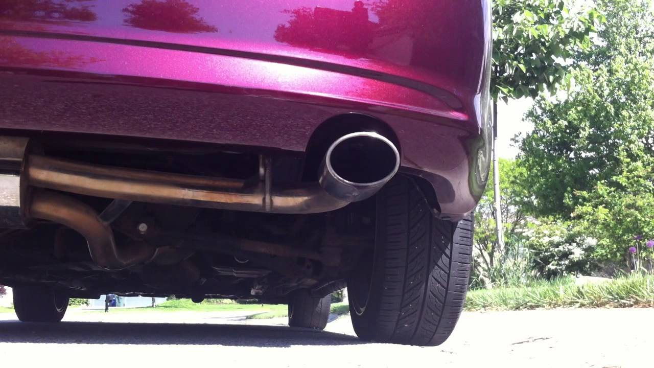 scion tc trd axleback exhaust startup