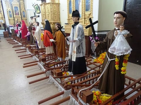 Saints in the Church (Procession of Saints, Goa-Velha)