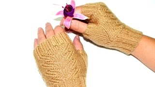 How to pick up 4 stitches for Fingerless Mittens' Thumb-holes