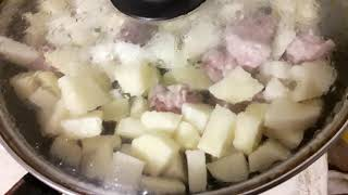 Готовим самую вкусную картошку с мясом