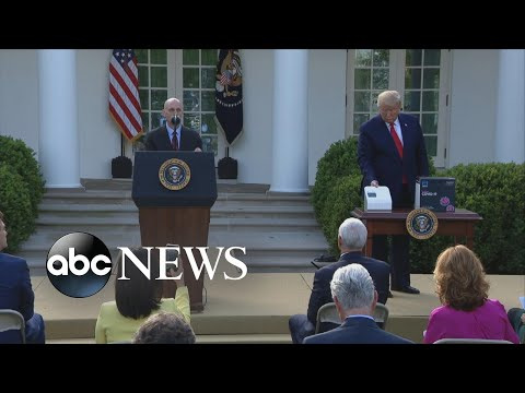 Trump unveils five-minute COVID-19 test