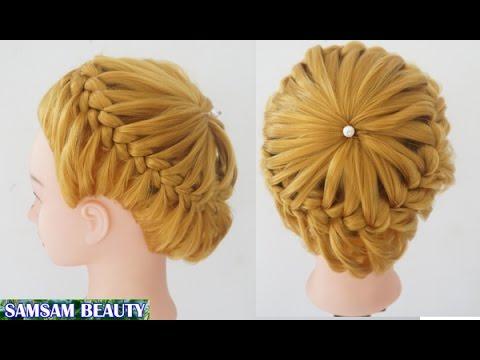 วิธีถักเปียด้วยตัวเองแบบง่ายๆ สวย น่ารัก Crown Braid Hair Tutorial (EASY) SAMSAM BEAUTY