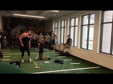 Highlights of Wyoming seniors participating in Pro Day tests