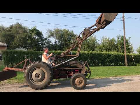 1948 ford 8n with a front end loader