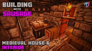 Minecraft Building with Sausage Medieval House 6 Interior !!! YouTube