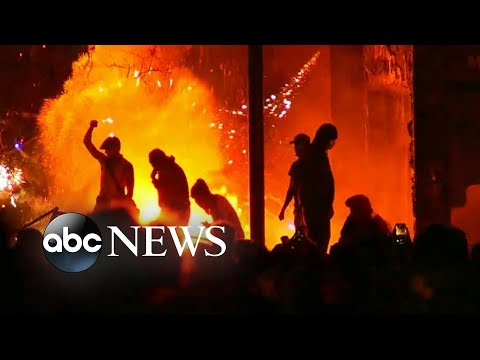 Fires Rage As Protests Escalate Over Black Man Who Died In Police Custody L ABC News