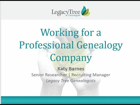 Working as a Professional Genealogist by Katy Barnes