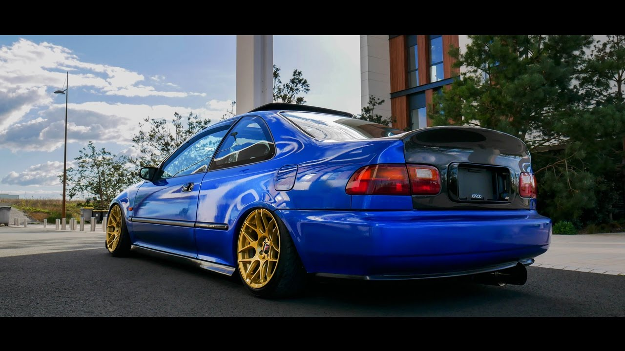 honda civic ej1 stance air ride youtube
