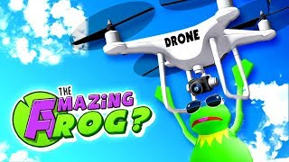FLYING OVER SWINDON WITH A DRONE! - Amazing Frog Drones Update
