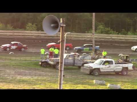 Hummingbird Speedway (7-13-19): Lockwood Processing Four-Cylinder Heat Race #2