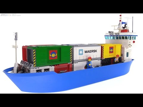Custom LEGO Container Cargo Ship MOC 🚢