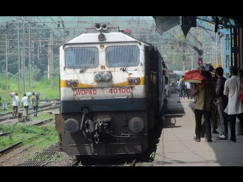 "Short Journey  ""Karjat To Pune"" GOC WDP4D #40100 With 16339 CST-Nagarcoil Express"